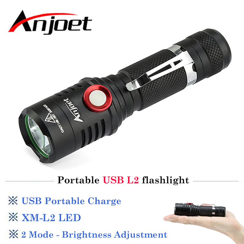 Portable USB Rechargeable 3000LM xm-L2 led flashlight Lamp Torch Bike Lamp Bicycle Lantern Light Torches+18650 Battery+USB+Clip