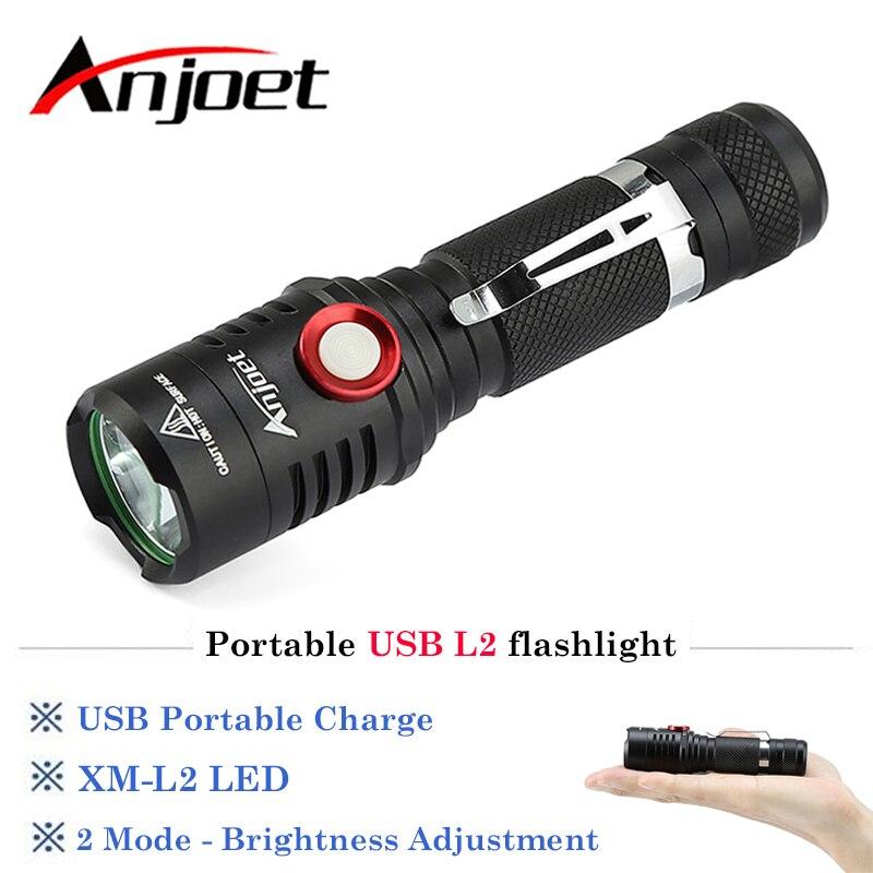 Portable USB Rechargeable 3000LM xm-L2 led lampe de poche Lampe Torche Vélo Lampe De Vélo Lanterne Lumière Torches + 18650 Batterie + USB + Clip