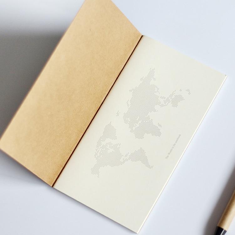 Standard / Pocket Kraft Paper Notebook Blank Anteckningsbok Dagbok - Block och anteckningsböcker - Foto 4