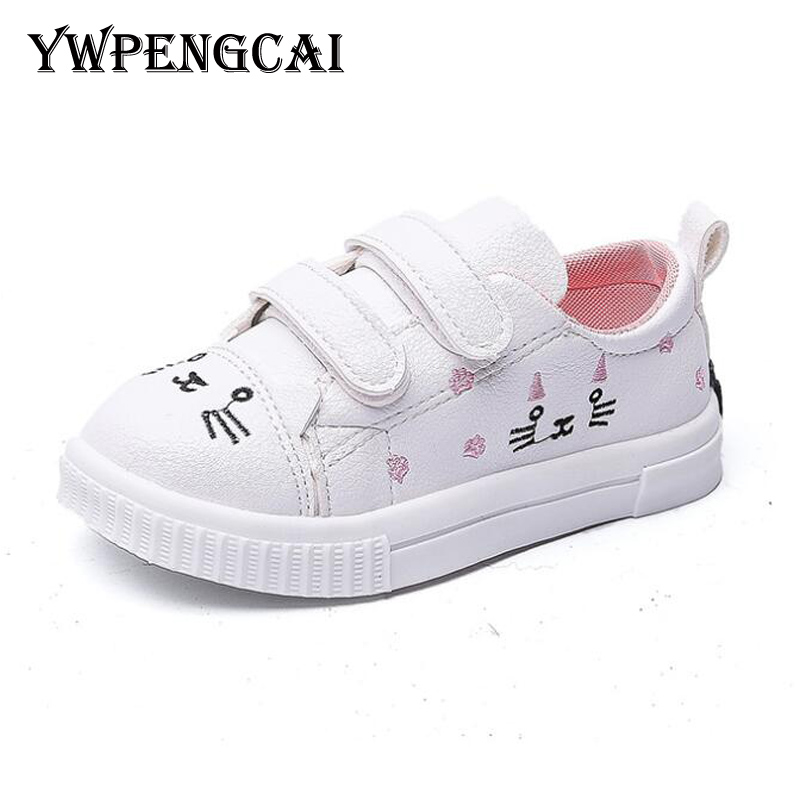 Size 21-30 Toddler Girl Shoes 2020 Spring Autumn Kids Shoes For Girl Breathable Sneakers Cute Animal Pattern Girls Shoes