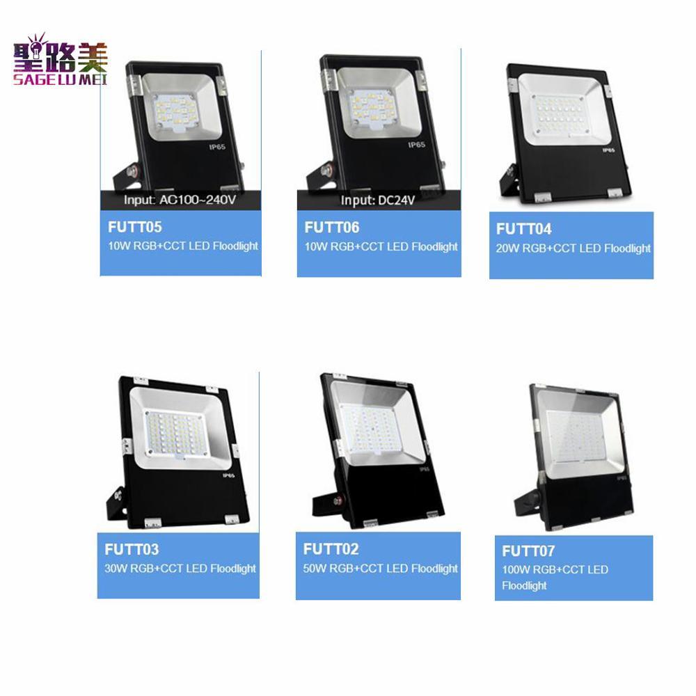 10 W rvb + CCT éclairage LED réglage de la température de couleur luminosité 2.4G télécommande wifi contrôle de saturation LED spot FUTT05