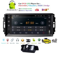 7 Android 8.1 Car radio Player For Wrangler Compass Grand Cherokee 2008 2011 Navigation Multimedia SWC DVR TPMS DAB Free camera