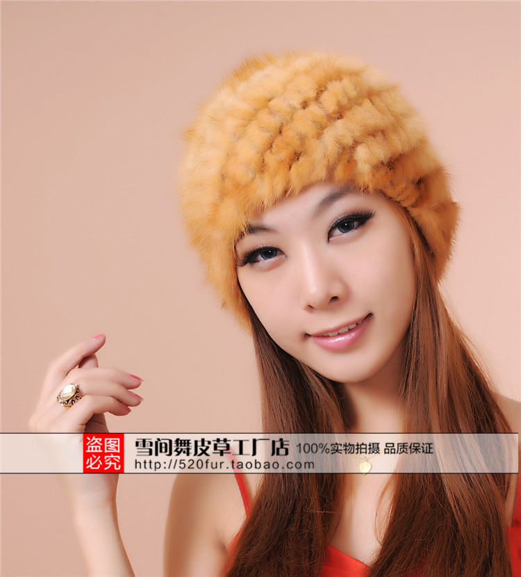 Image 4 - Woman Plus Size Winter Stripe Stretch Mink Fur Bomber Hats Lady Solid Stretch Mink Fur Protective Ear Warm Bomber Hat-in Men's Bomber Hats from Apparel Accessories