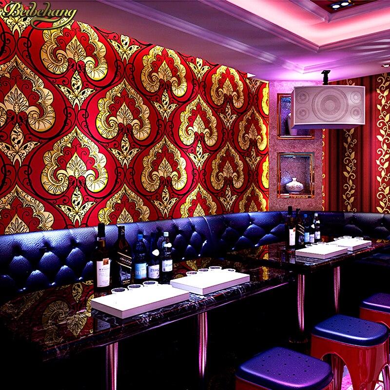 Beibehang Continental damas papier peint KTV hôtel thème boîte club style personnalisé AB version du papier peint papel de parede