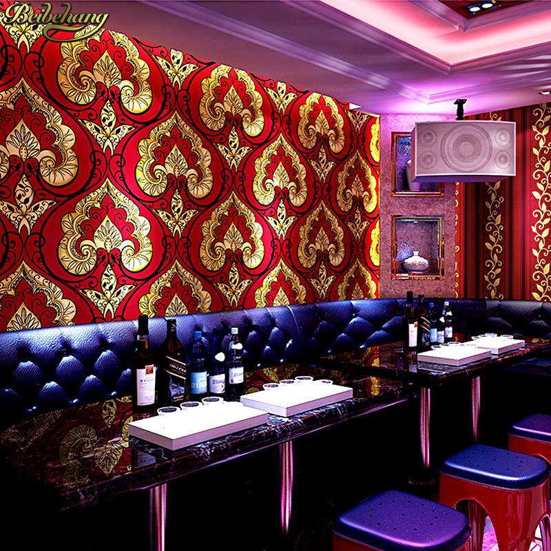 beibehang Continental Damascus wallpaper KTV hotel theme box club style personalized AB version of the wallpaper papel de parede зимняя шина continental contivikingcontact 6 225 55 r17 101t