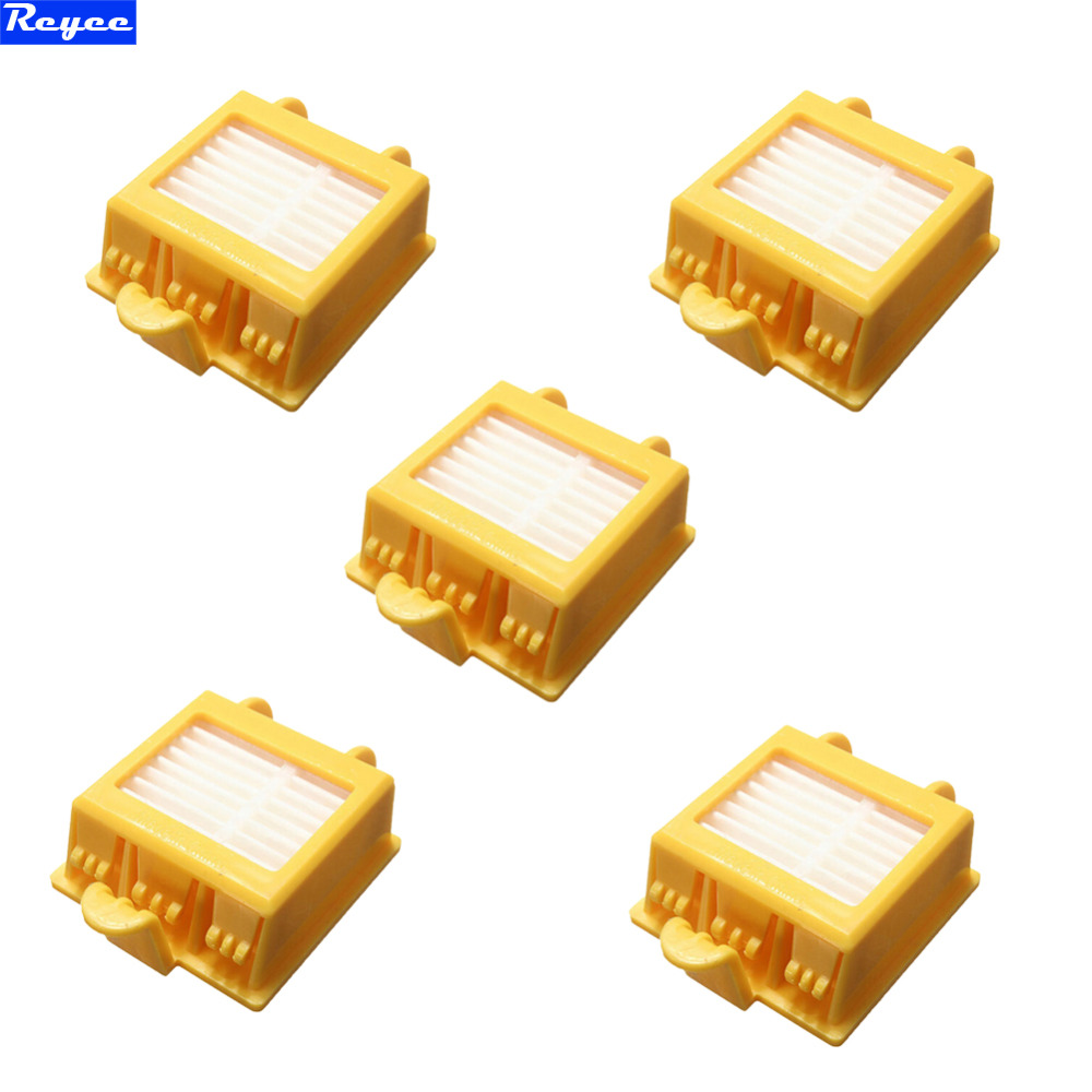 5 pcs / lots Total Hepa Yellow Filter filters for iRobot Roomba 700 Series 760 770 780 Free Shipping 100% New total 12pcs filters