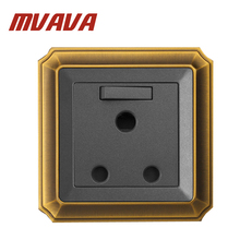 Free shipping MVAVA South Africa Standard 3 pin wall plug socket,Luxury Decorative Bronzed Switched Socket outlet