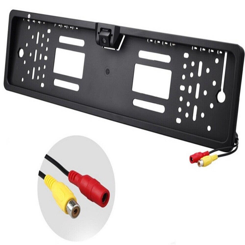 16 LED Europeia Moldura Placa Câmera CMOS HD Câmera de Visão  Traseira Do Reverso Do Carro Câmera Traço Auto Veículo CâmerasCâmera  veicular