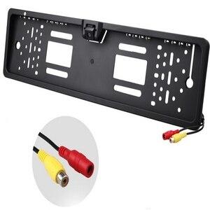 Image 1 - 16 LED europejska ramka do tablicy rejestracyjnej samochodu do tyłu aparatu CMOS HD widok z tyłu kamera Auto Dash kamera kamery