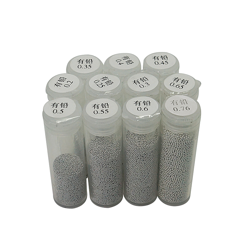 BGA Solder Ball 25K 0.2mm To 0.76mm Leaded Tin Solder Balls For BGA Reballing Station