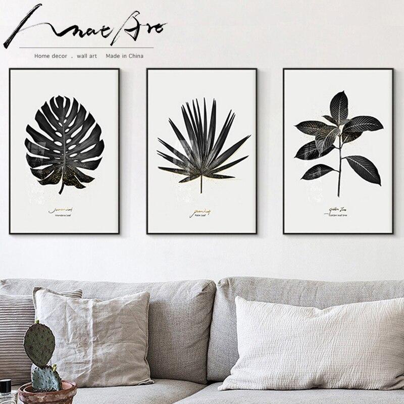 Schilderen Canvas Art Moderne Nordic Poster Zwart Wit Plant Fotografie 3 Stuk Muur Prints Voor Woonkamer Home Decoratie Wall Print Poster Black And Whitenordic Poster Aliexpress