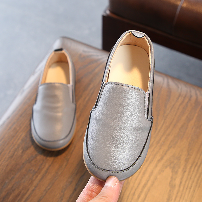 Mumoresip Boys Loafers Childrens Casual Leather Shoes Kids School Flats New Fashion School-open Gift Students Pupils Shoes Soft