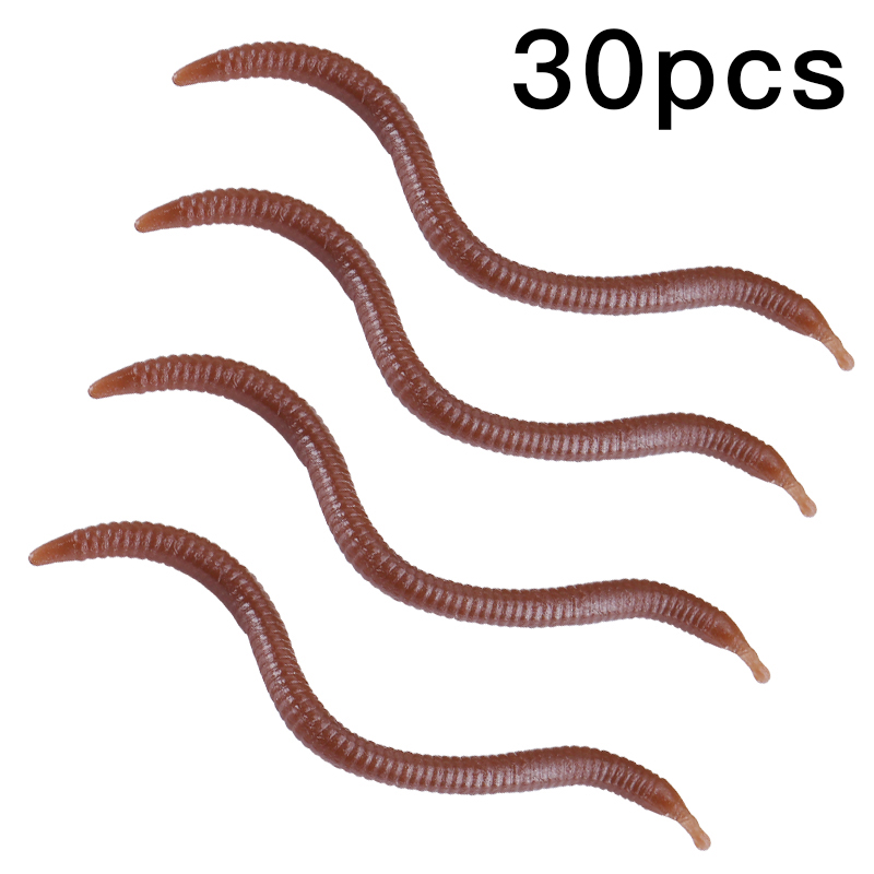 30Pcs Soft Lure Silicone Simulation Artificial Fishing Lures bloodworm Simulation Earthworm Lifelike Fishy Smell Bait Fishing Ta in Fishing Lures from Sports Entertainment
