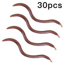 30Pcs Soft Lure Silicone Simulation Artificial Fishing Lures bloodworm Earthworm Lifelike Fishy Smell Bait Ta