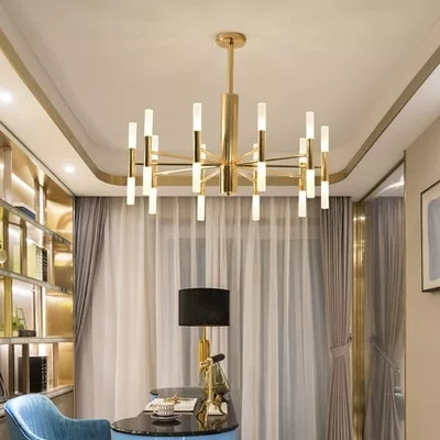 Nowoczesny projektant mody czarne złoto Led sufit Art Deco podwieszany żyrandol lampa światła do kuchni salon Loft sypialnia