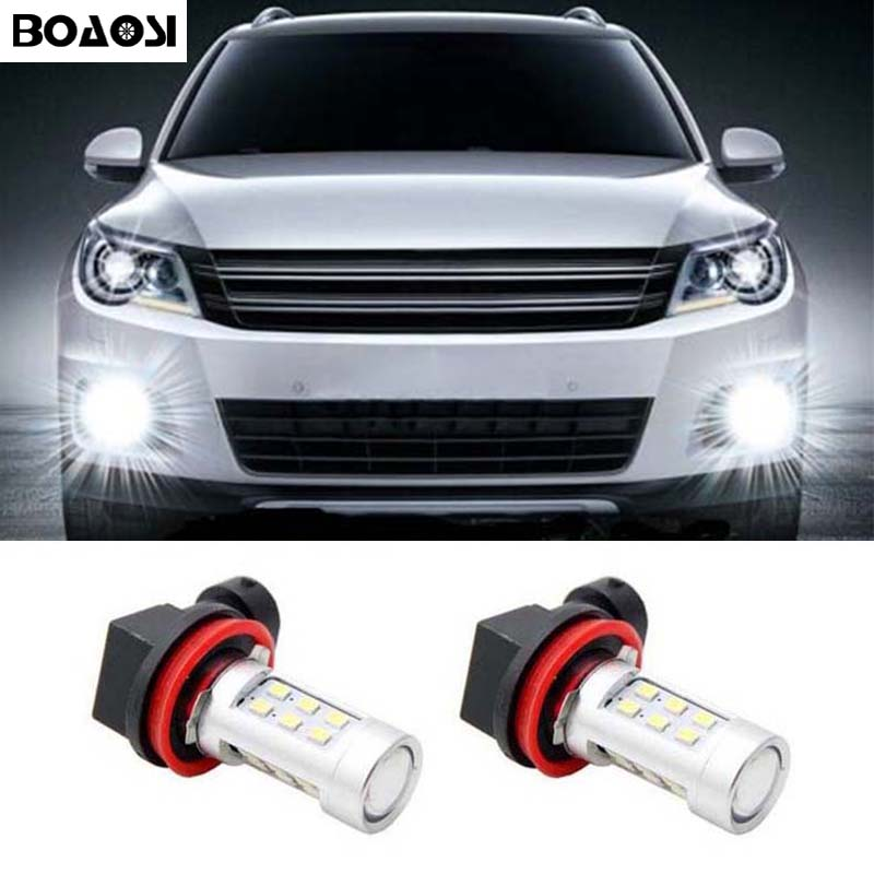 BOAOSI For Ford Mitsubishi Mazda BMW E39 325 328 mini H11 H8 LED - Billygter - Foto 1