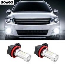 BOAOSI For Ford Mitsubishi Mazda BMW E39 325 328 mini H11 H8 LED Canbus Bulbs Fog Light Replacement LED Bulbs 2pcs