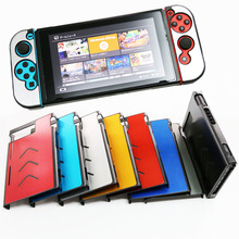 Liga de alumínio Case para Nintend Interruptor Multicolor Caso Capa Protetora Dura Game Console Joystick Joy-Con NS Acessórios