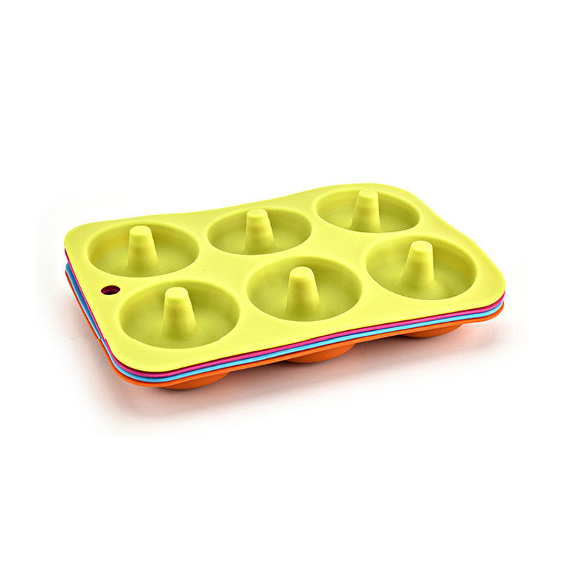 Image 4 - 2019 6 Cavity Silicone Donut Baking Pan Non Stick Mold Dishwasher Decoration Tools Baking Nonstick Heat Resistant Reusable #10-in Cake Molds from Home & Garden