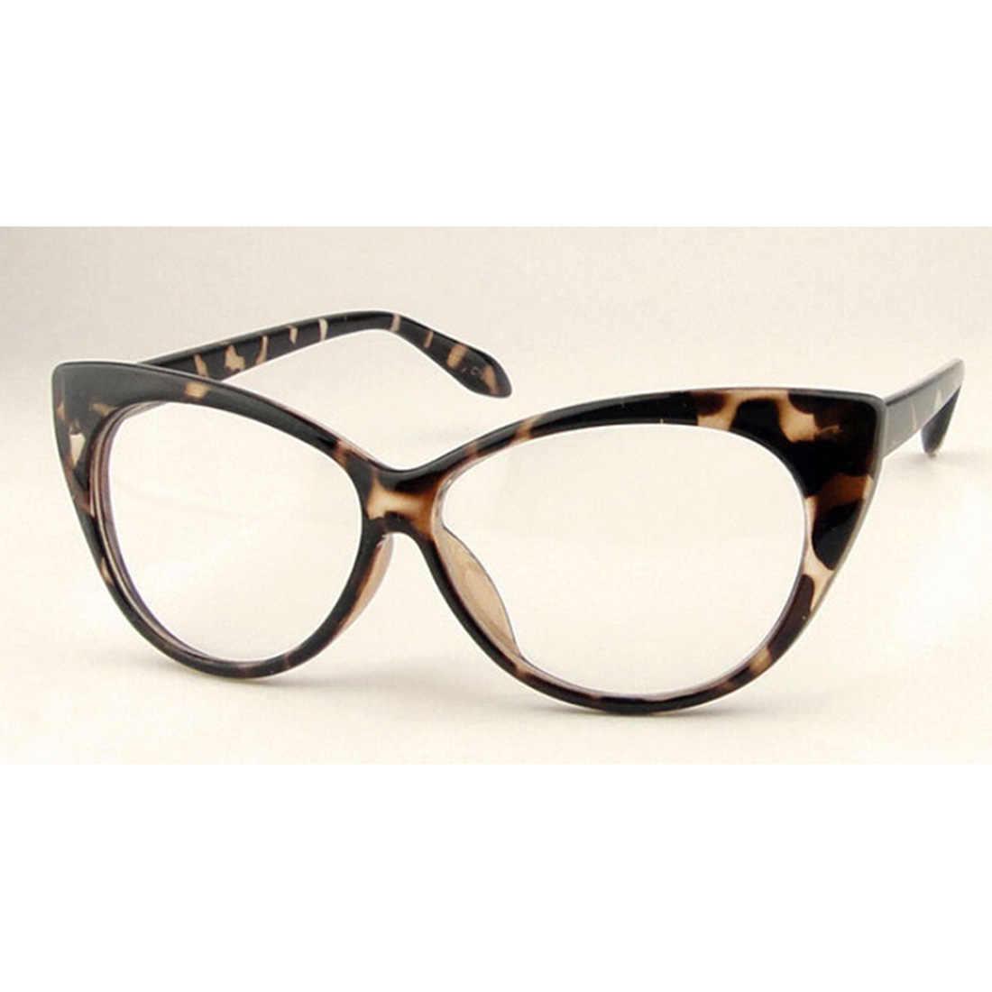 0a705c2fd5 ... Marco de gafas con forma de ojos de gato elegante moderno para mujeres  monturas ópticas de ...