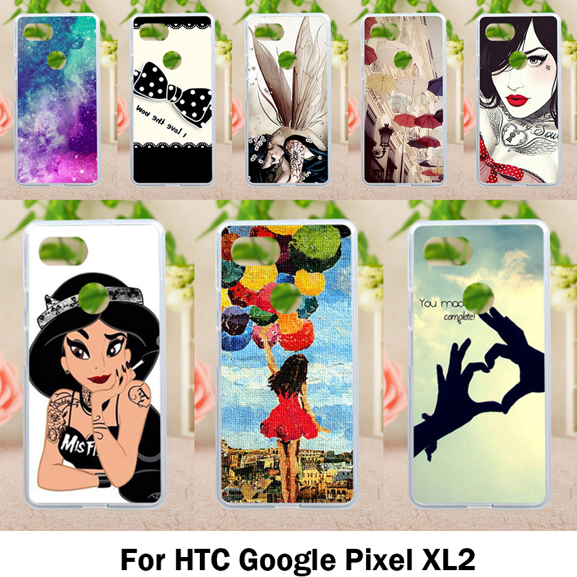 Soft TPU Cases For HTC Pixel XL 2 Case Antil-Knock Cover For Google Pixel XL2 6.0 Inch Silicone Bags Housings