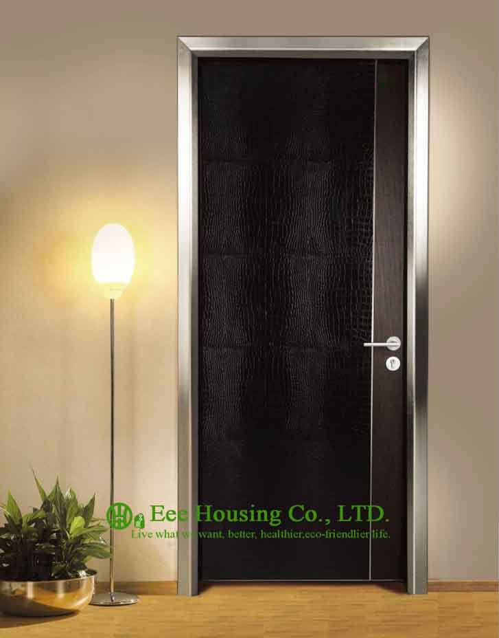 Aluminum Modern Door For Restaurant UseCustomized Ecological Interior Door For Sale & Modern Flush Wood Door For Sale Walnut Veneer Interior Bedroom Door ...