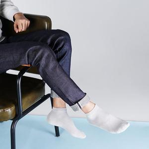 Image 2 - Xiaomi 365 nosić męskie oddychające skarpety wiosenne i letnie antybakteryjne skarpetki miękkie i wygodne męskie krótkie skarpetki