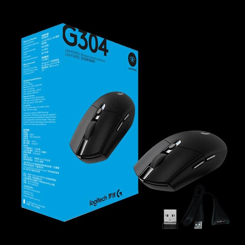 Logitech G304 LIGHTSPEED souris de jeu souris sans fil avec capteur héros 12000 DPI 400IPS AA batterie pour souris Gamer - 6