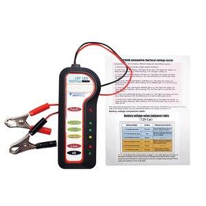 Image 5 - Analizzatore della batteria del veicolo dellautomobile di tensione dellalternatore dello strumento diagnostico del Tester della batteria dellautomobile 12V
