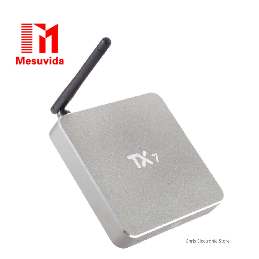 Mesuvida TX7 Smart Android 6.0 TV Box with Amlogic S905X Quad Core Dual WiFi 2.4GHz 5GHz Bluetooth 4.0 Mini PC TV Bov askent s 7 1 tx
