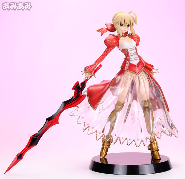 Nuovo Versin Fate Stay Night Fate/extra Ccc Saber Red Saber Lily Pvc Fate/stay Night Figura Anime Action Figure Toy anime fate stay night figma saber on blue short skirt ver 24cm pvc action figure collectible model toy for adults