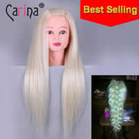 22 Hair Mannequin Head Hair Fake Hairdressing Doll Heads Training Manikin With Human Hair Manik Cosmetology Educational Sale