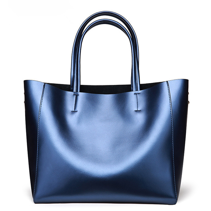 100% Genuine Leather Women Bags 2017 Brand Pearl Cow Leather Ladies Handbags Large capacity Shoulder messenger bag Female Totes