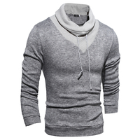 Sweater Pullover Men 2017 Male Brand Casual Slim Sweaters Men Soild Color Hedging Turtleneck Men S