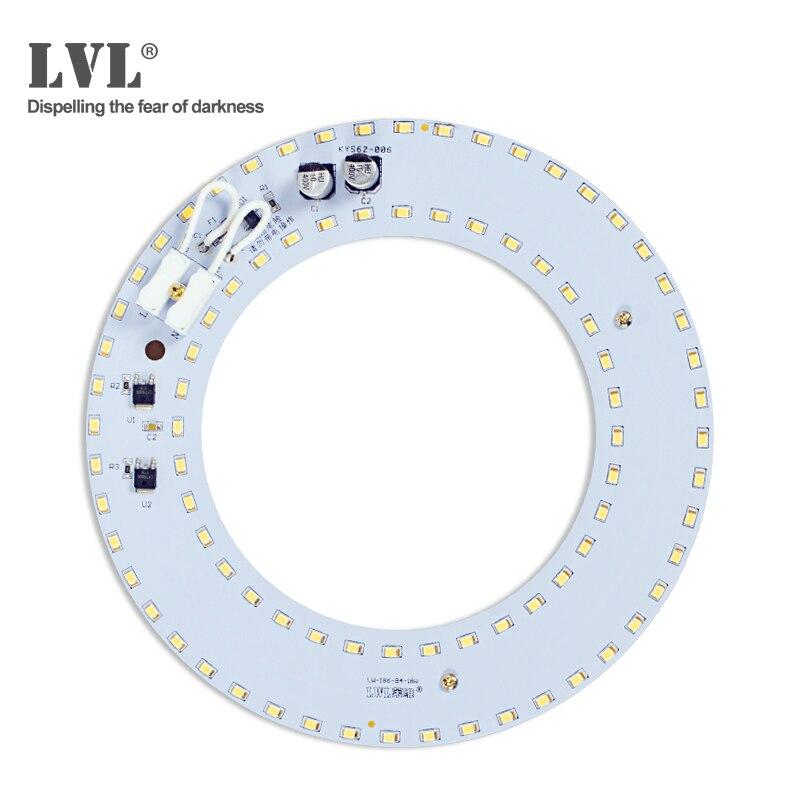LED Module 18W 25W 36W cercle anneau lampe sans scintillement AC 220V 230V pour plafonnier source remplacement rond LED tube