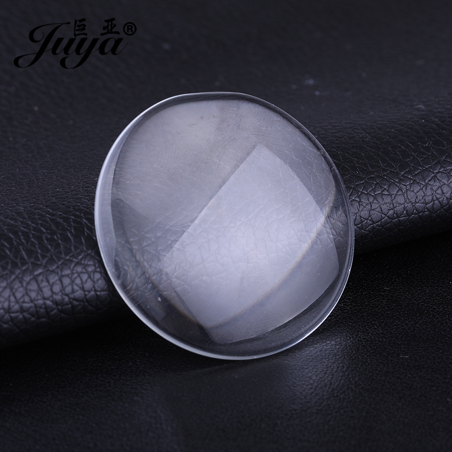 JUYA 14/18/20/25/30/41mm Round Flat Back Transparent Clear Glass Cabochon for DIY Charm Necklace Jewelry Making Crafts SuppliersJUYA 14/18/20/25/30/41mm Round Flat Back Transparent Clear Glass Cabochon for DIY Charm Necklace Jewelry Making Crafts Suppliers
