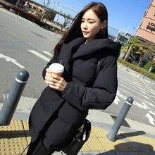 Abner 2017 New Winter Loose Hooded Coat Fashion Women Down Cotton Female Warm Overcoat
