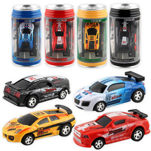 New Creative Coke Can Mini Car RC Cars Collection Radio Controlled Cars Machines on The Remote Control Toys for Boys Kids Gift