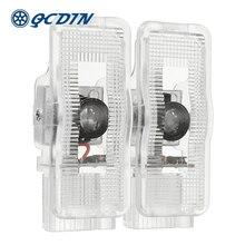 QCDIN 2pcs For PEUGEOT Car LED Door Welcome Logo Light Laser Decoration Shadow Projector Light for 407 408 508 RCZ 1007