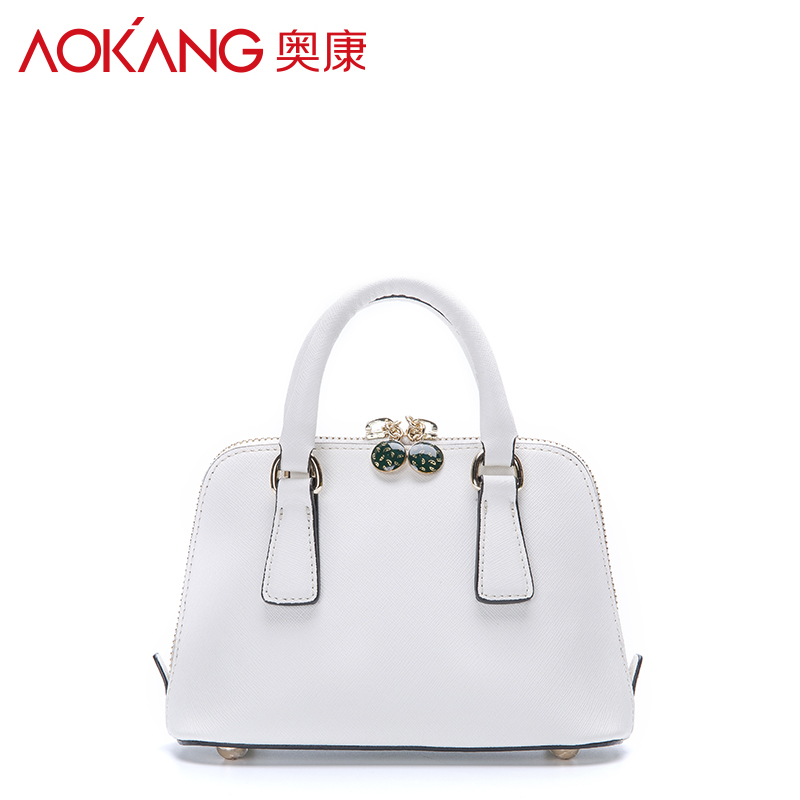 Aokang 2016 autumn new style split leather material ladies totes candy  colors female handbags casual women's totes wholesale