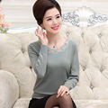 Cashmere O-neck solid color lace warm knitted women sweaters and pullovers new 2016 autumn and winter cashmere sweater
