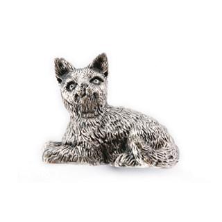 Criativo gato de botão de prata antigo gabinete armário botão de punho