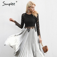 Simplee Sexy Lace Lining Women Tank Top Tees Female Black Hollow Out Crop Top Camisole Fahion