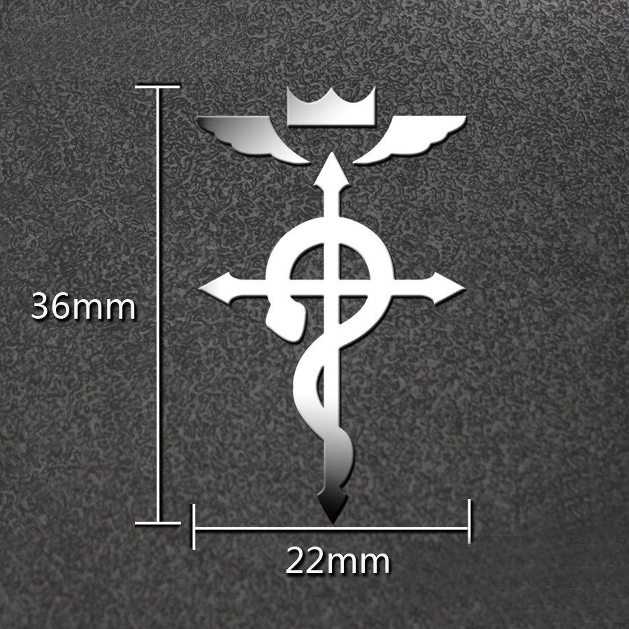 PowerAngel Fullmetal Alchemist 3D Metal Anime Stickers Luxury Decal Sticker for Phone Laptop Car Kids Toy Sticker