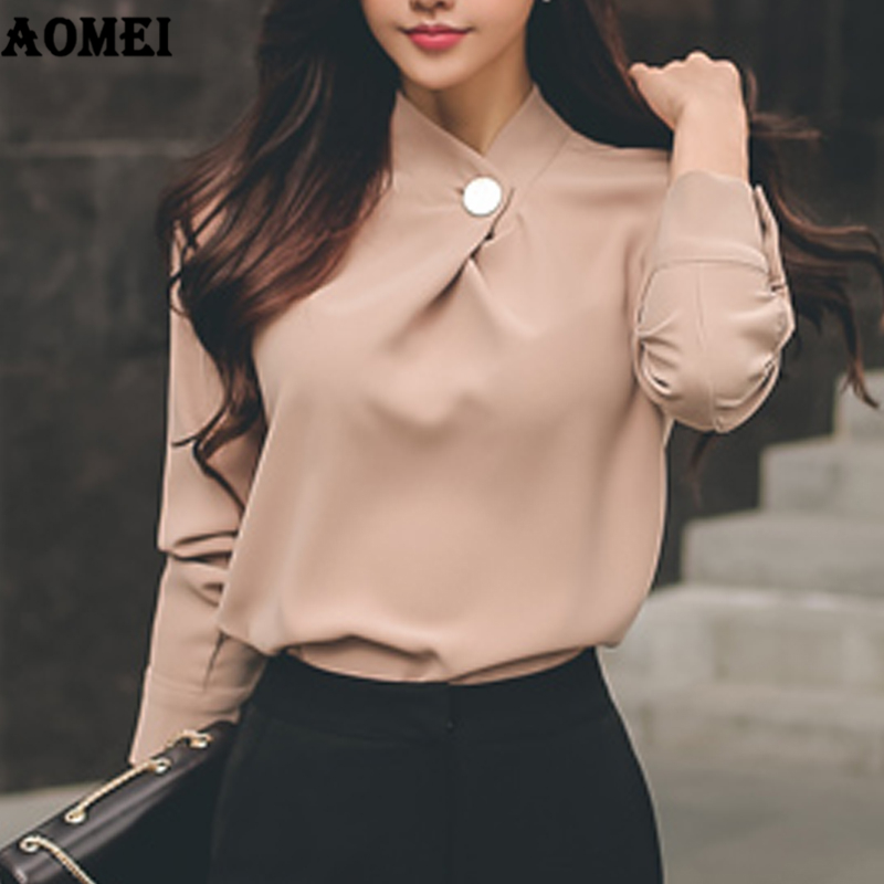 Women's Clothing Korea 2019 New Womens Clothing Spring Long-sleeved Chiffon Women Blouse Shirt Solid Formal Women Tops Blusas Quality And Quantity Assured