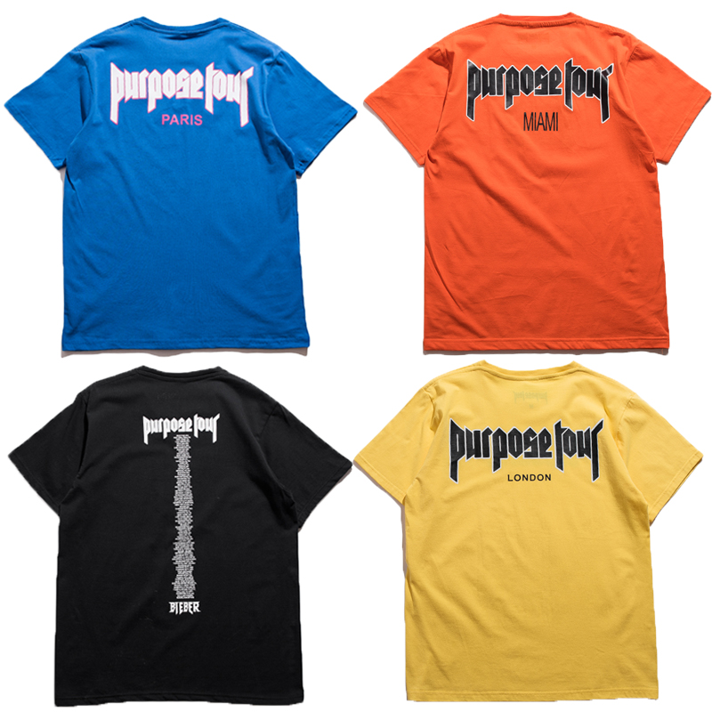 T-shirts Fashion Style Wolf Print Fashion Brand Purpose Tour 3d T-shirts Men London Heavy Metal 2018 New Kanye West High Quality Hip Hop Cotton T-shirt
