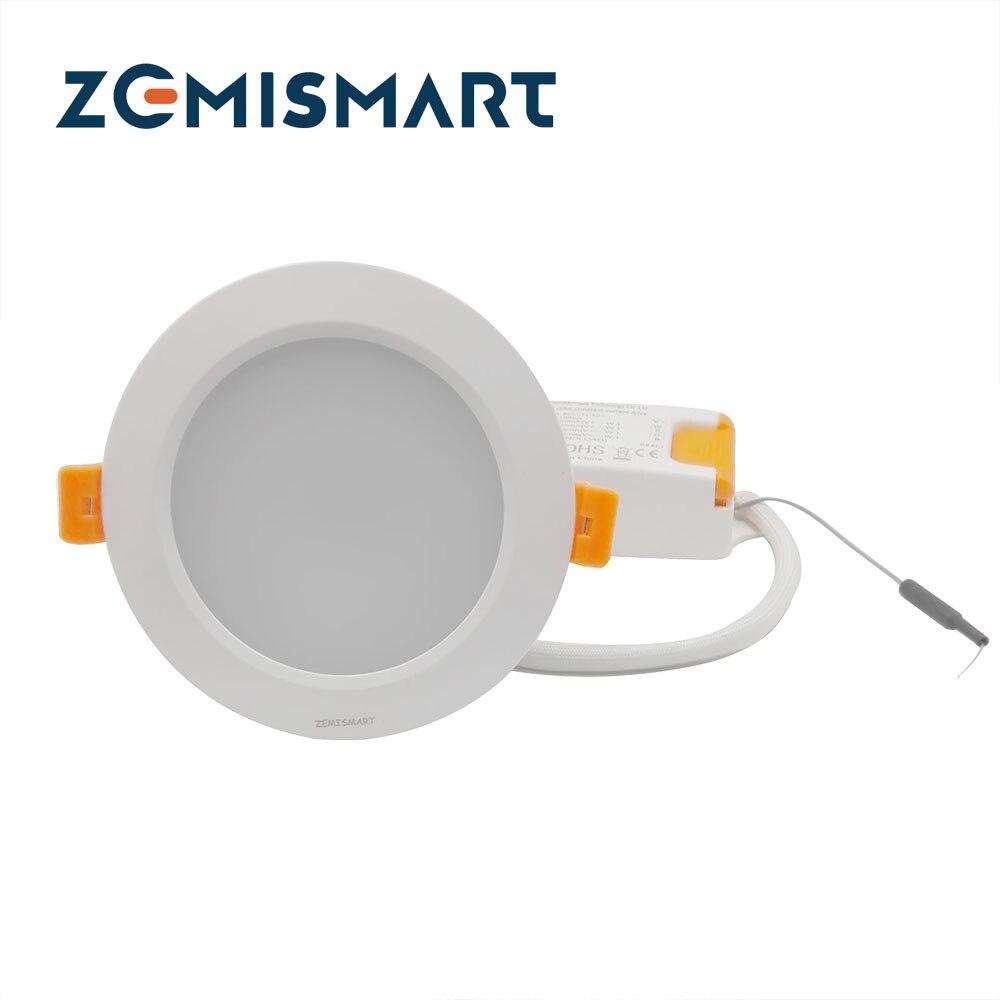 ZLL ZigBee Smart RGBW Downlight Led Ampoule Lumière 12 w commande vocale par Alexa echo ou google maison zemismart hub ou 3 partie hub
