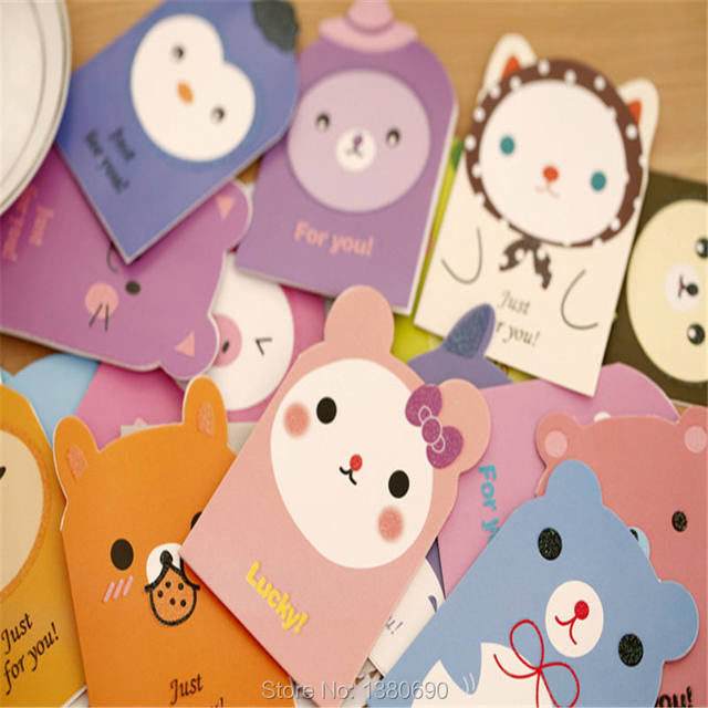 Online shop 50pc 118cm mini small size thank you cute cartoon 50pc 118cm mini small size thank you cute cartoon greeting card with envelope message paper card best wish congratulation card m4hsunfo