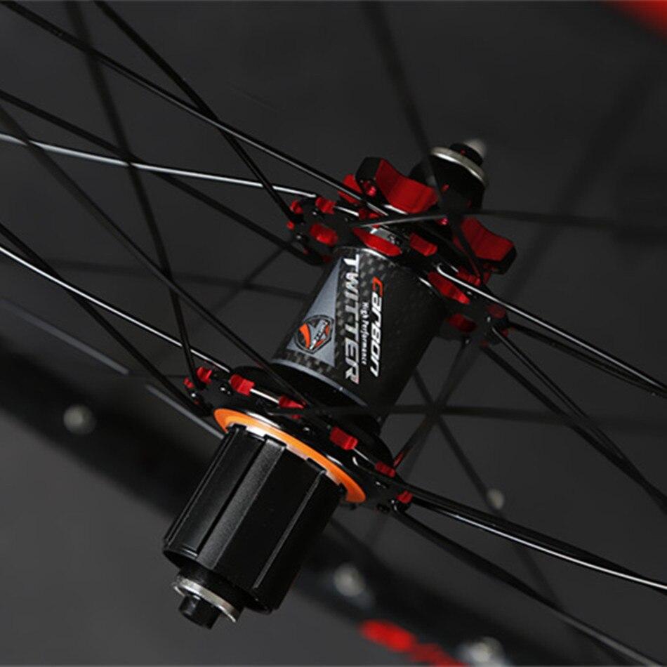 Roues en FIber scellées JKLapin VTT 26 pouces paire de roues en carbone 27.5 29 pouces jante en alliage QR/Thru-axis