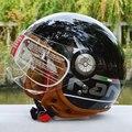 Старинных мотоциклов beon шлемы harley ретро мотокросс шлем мотобайк moto cross открытым лицом немецкие каски M/L/XL